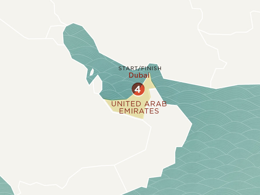 Map of Dubai Stopover | Topdeck