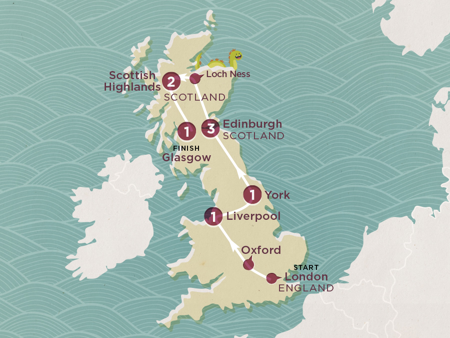 Map of British Winter Warmer 2020-21 | Topdeck