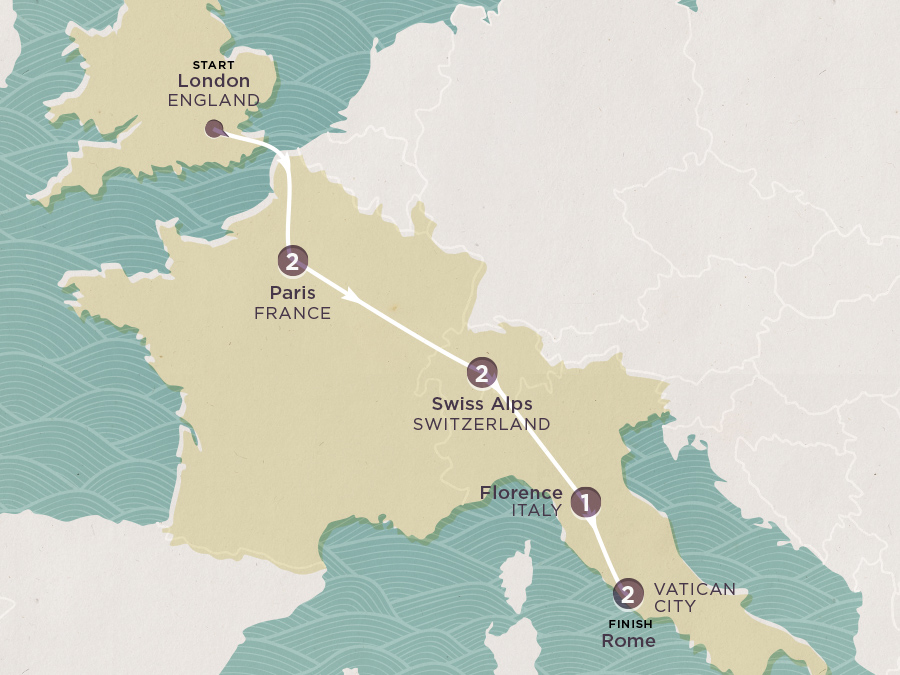 Map of Parades to Piazzas 2020-21 | Topdeck