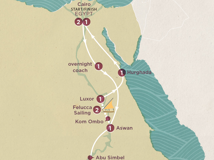 Map of Egypt Express 2020-21   Topdeck