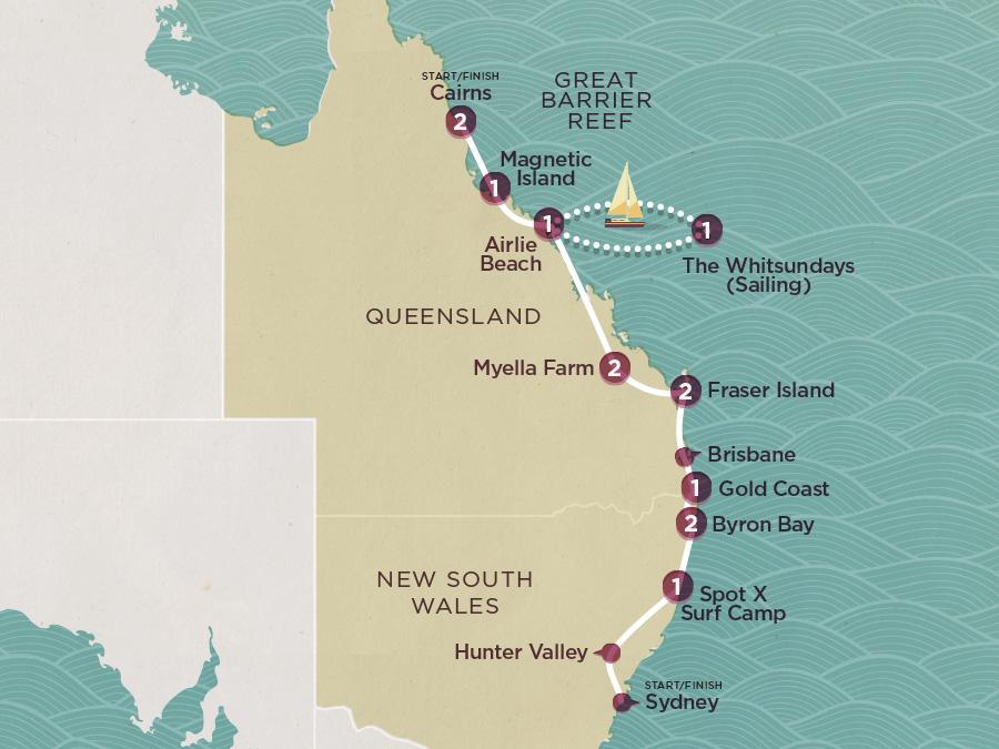 Map of East Coast Beachin | Topdeck