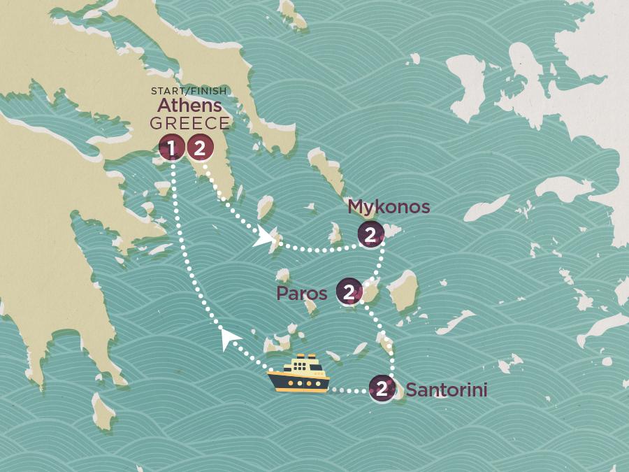 Map of Greek Island Hopper