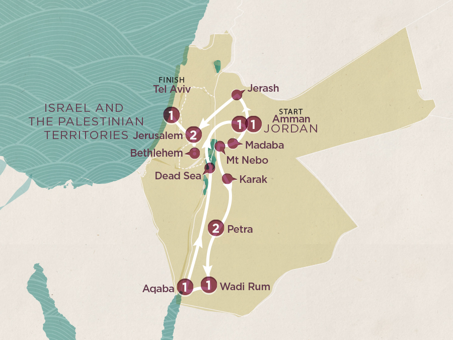 Jordan & Israel Map
