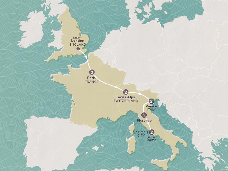 Roman Road Map