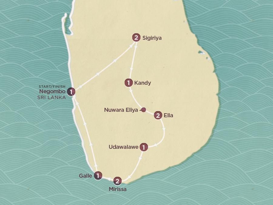 Discover Sri Lanka Map