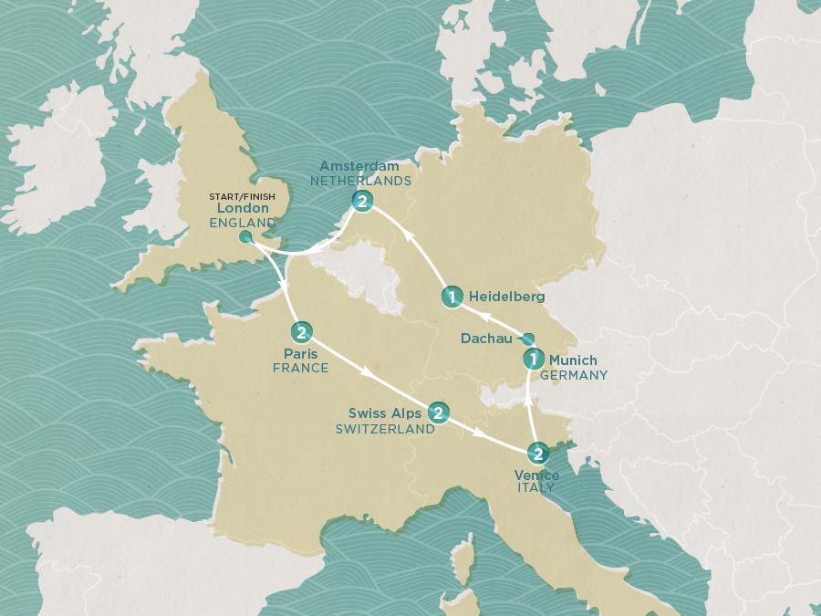 Europe Express Map