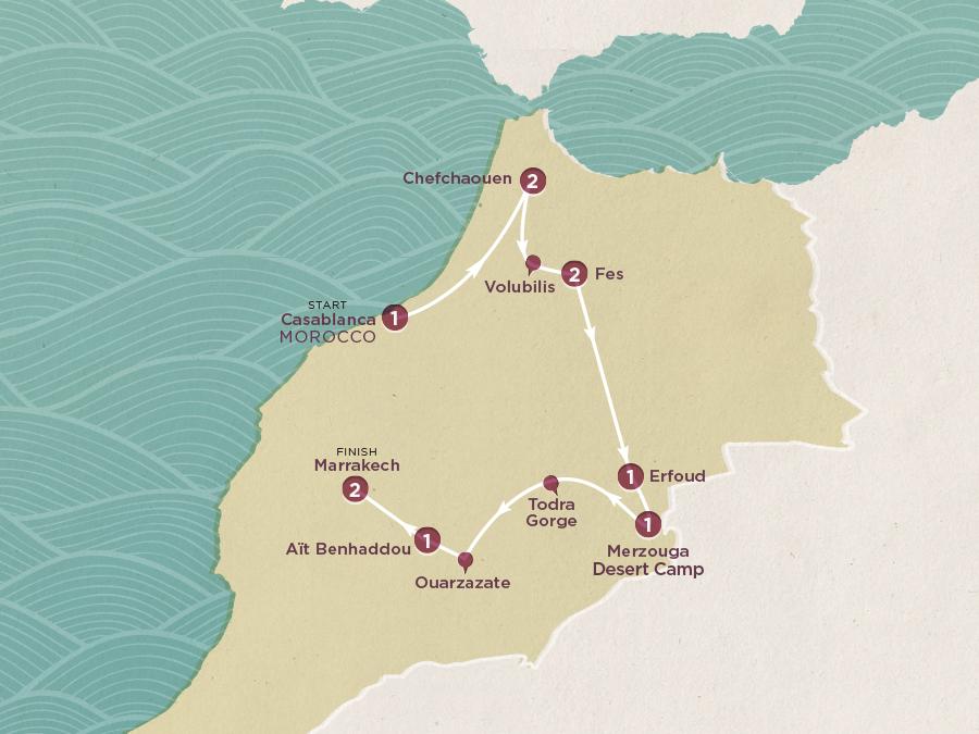 Moroccan Explorer Map
