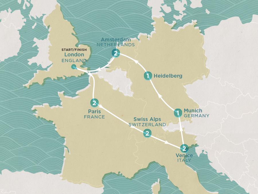 Winter Getaway Map