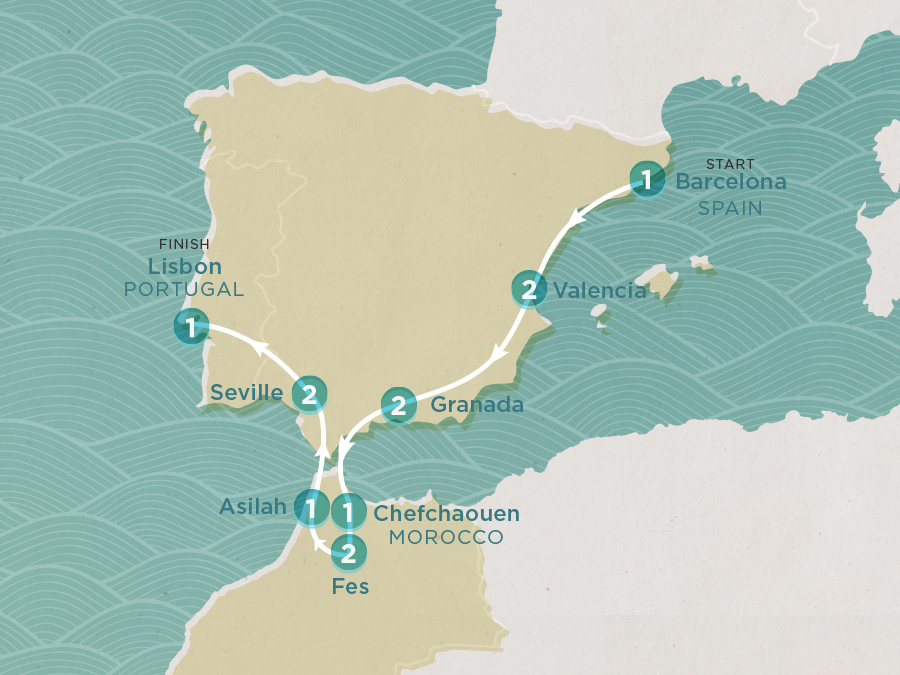 Iberian Coast Map