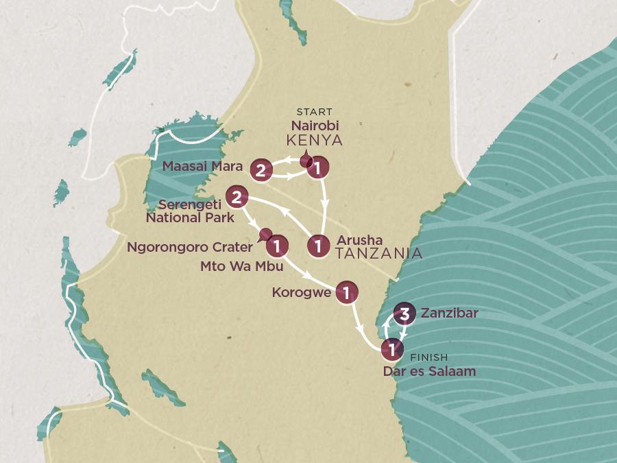 Sun & Safari Map