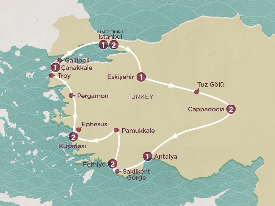 Turkey Explored Map