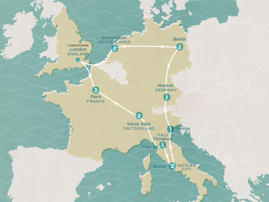 European Wonder Map