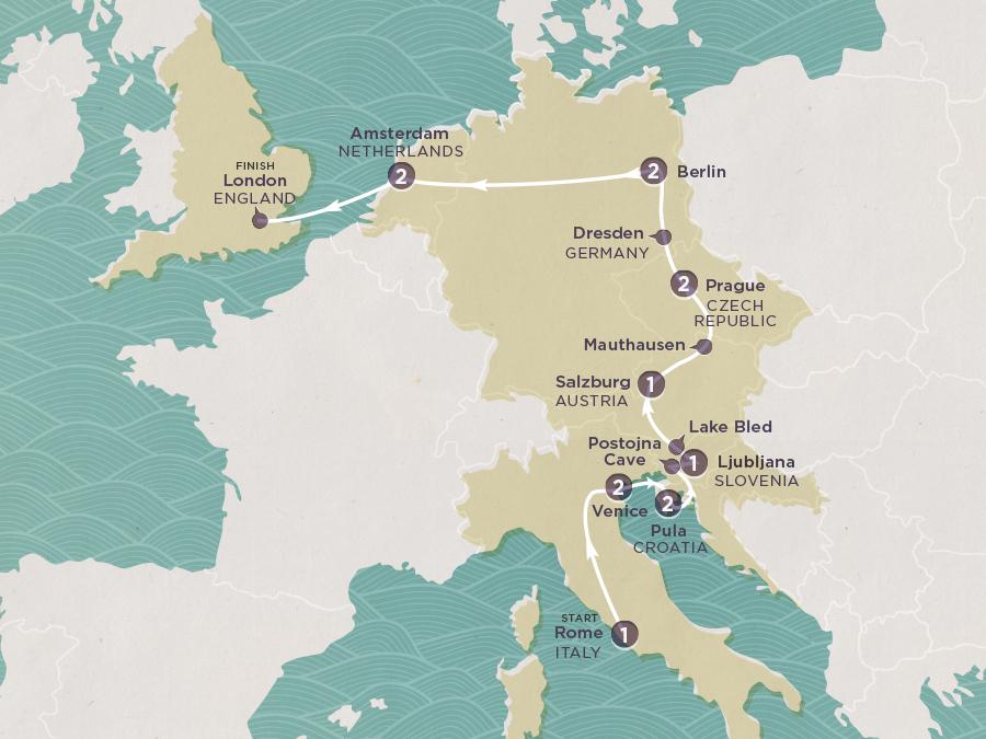 Venetian Trail Map