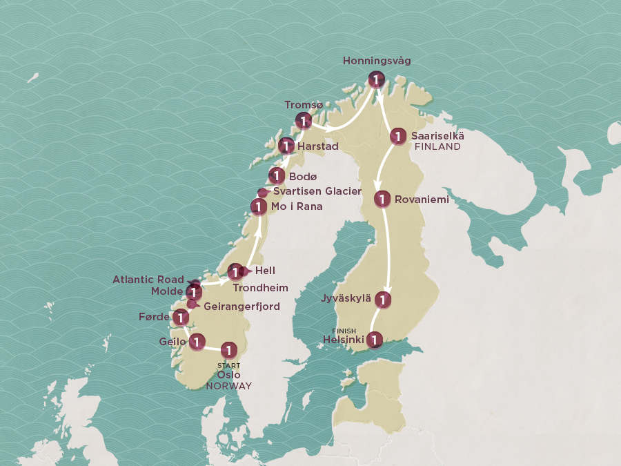 Scenic Scandi Map