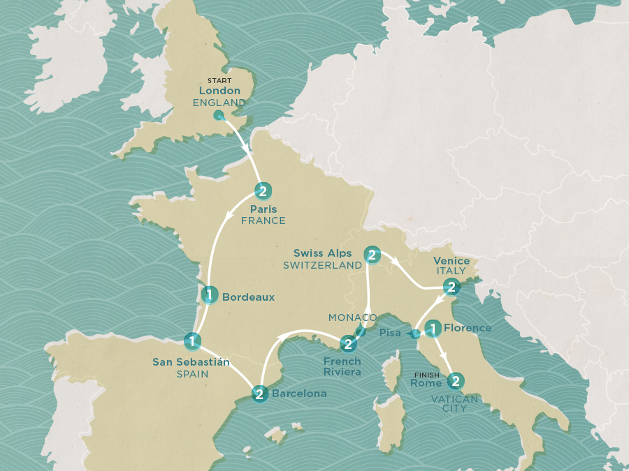 Classic Europe Map