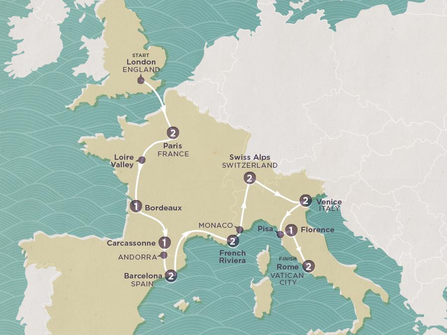 European Emperor Map