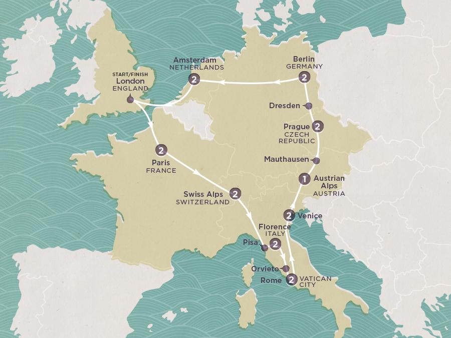 European Odyssey Map