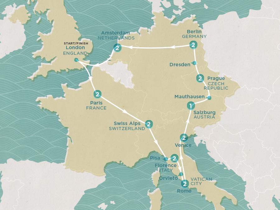 Winter Express Map
