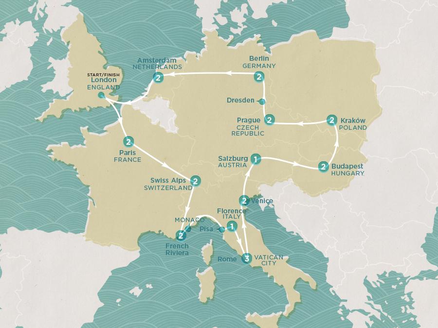 Spirit of Europe Map