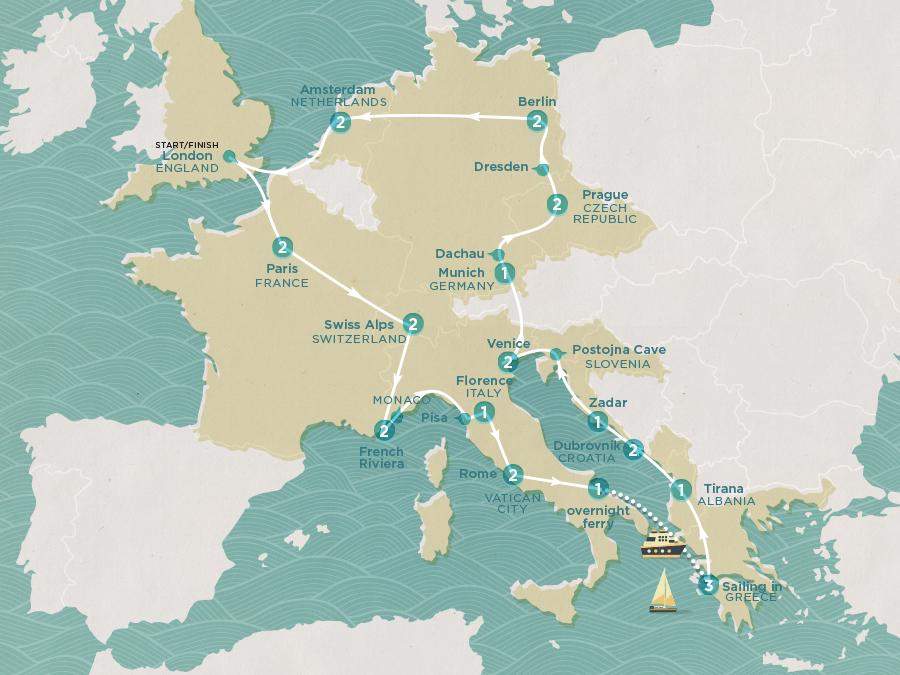 Summer Fun & Sailing Map