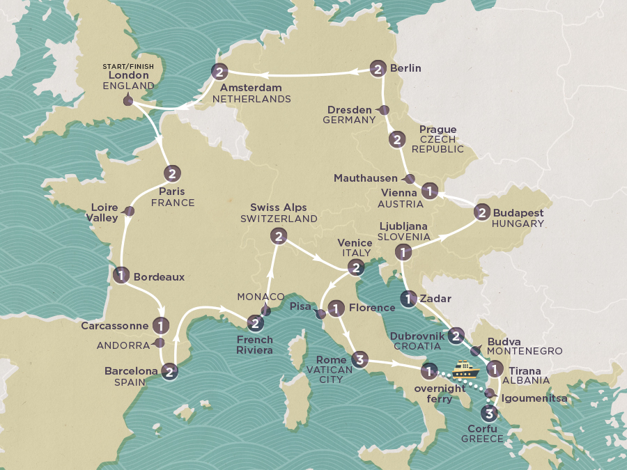 Discover Europe Map