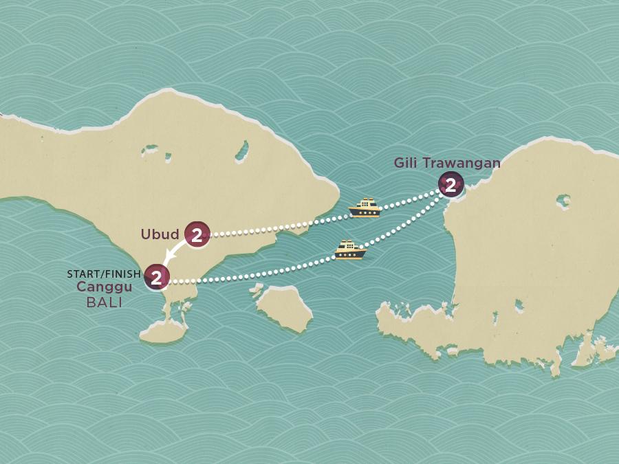 Bali Island Hopper Map