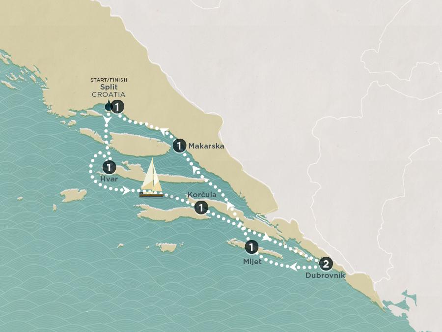 Croatian Riviera Map