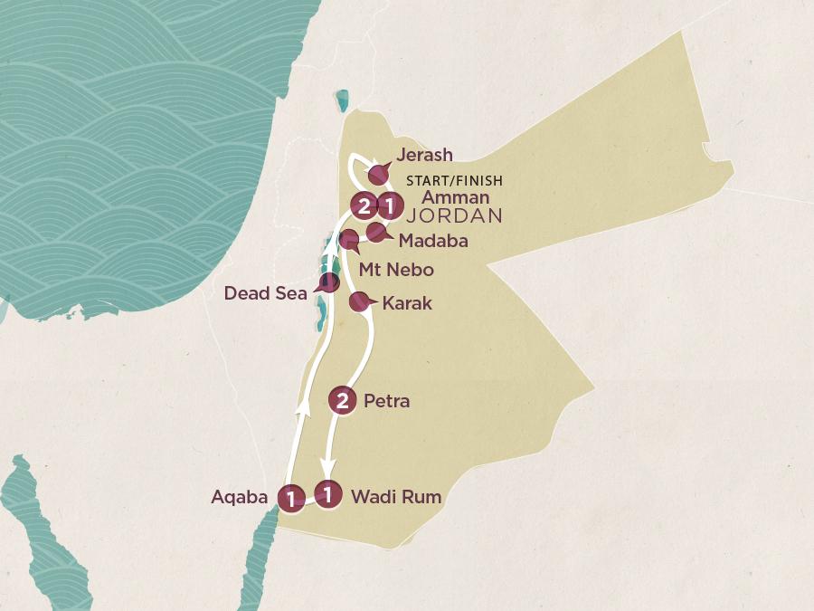 Jordan Adventure Map