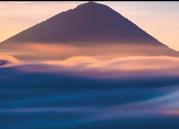 mountain sunset view Indonesia