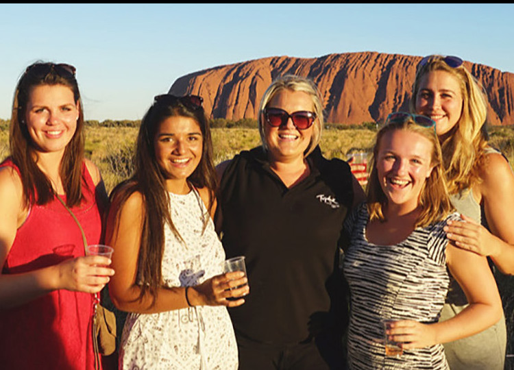 friends on wine tour in Australian outback