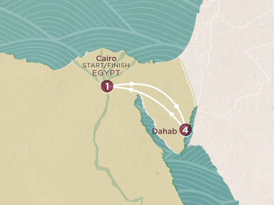 Map of Dahab Beach Break | Topdeck