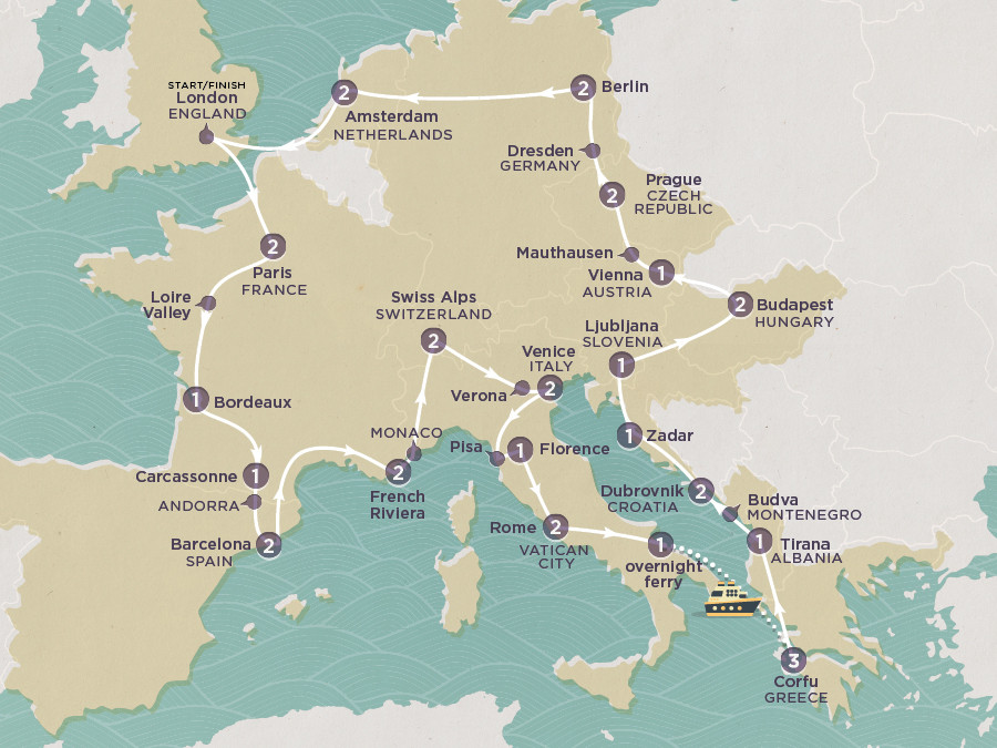 Map of Discover Europe