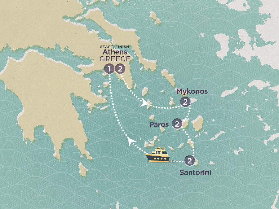 Map of Greek Island Hopper