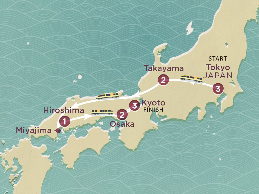 Map of Japan Highlights 2020-21 | Topdeck