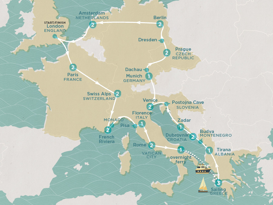 Map of Summer Fun & Sailing