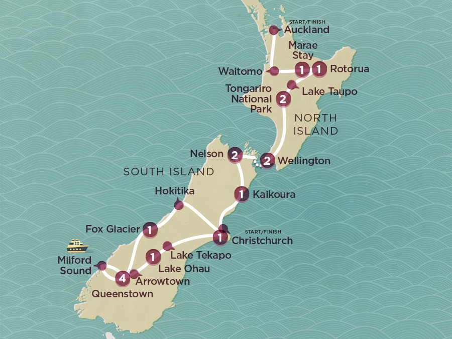 Map of Kiwi Encounter (Ex Christchurch) 2020-21