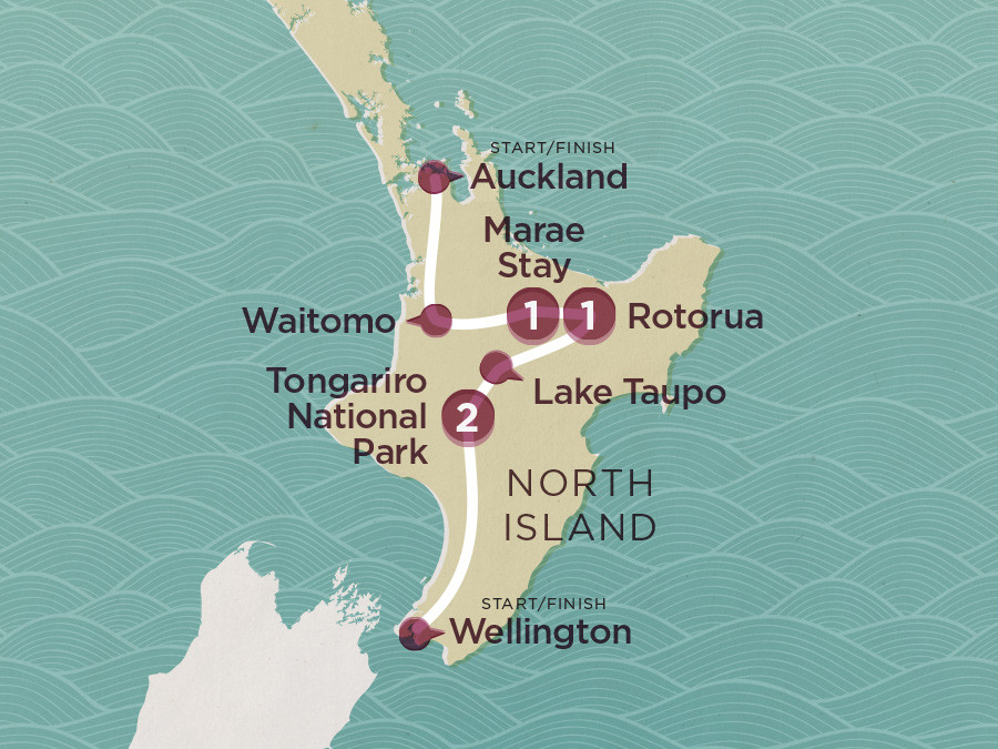Map of Sweet As North (Ex Wellington) 2020-21