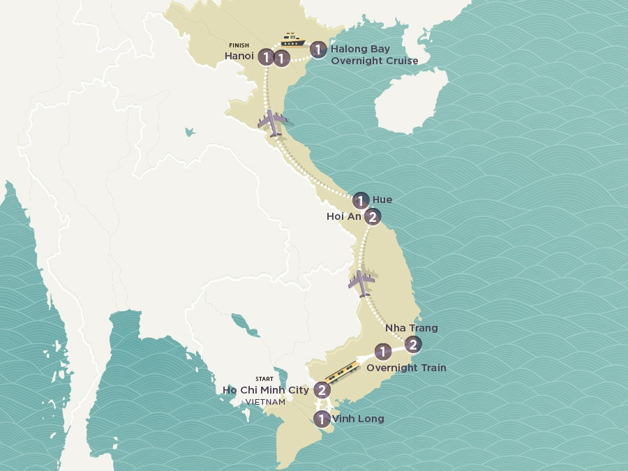 Map of Vietnam Uncovered | Topdeck Travel