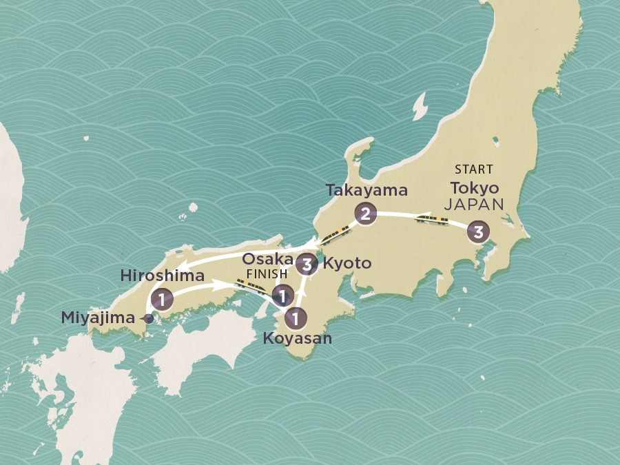 Map of Japan Highlights | Topdeck Travel