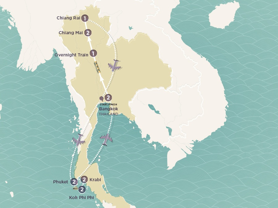 Map of My Thai | Topdeck Travel
