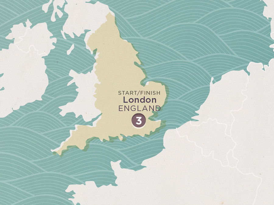 Map of London Break - Hotel | Topdeck Travel