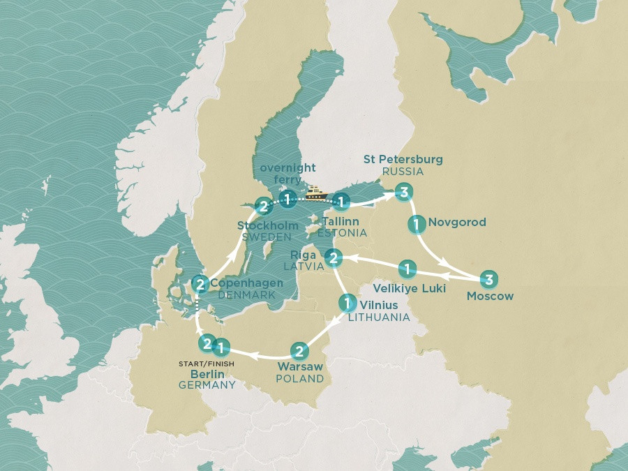 Map of Russia Scandi | Topdeck Travel