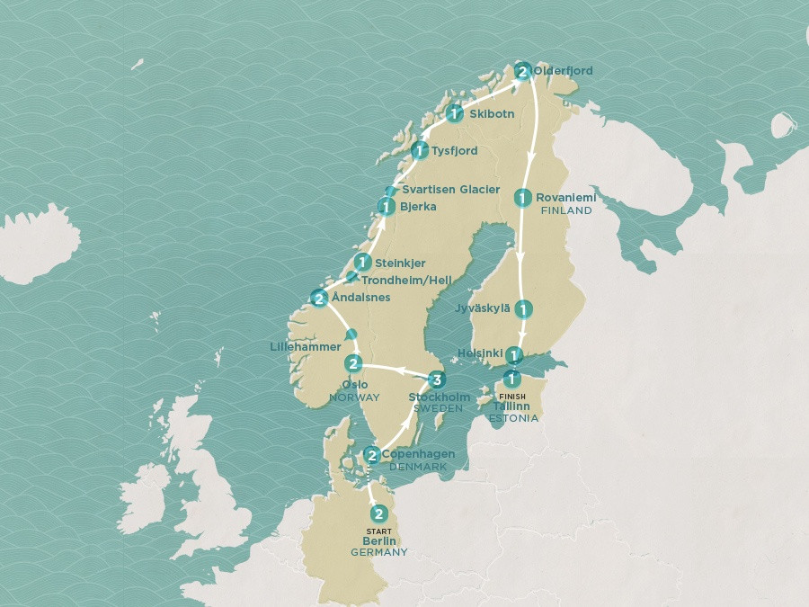Map of Northern Exposure | Topdeck Travel