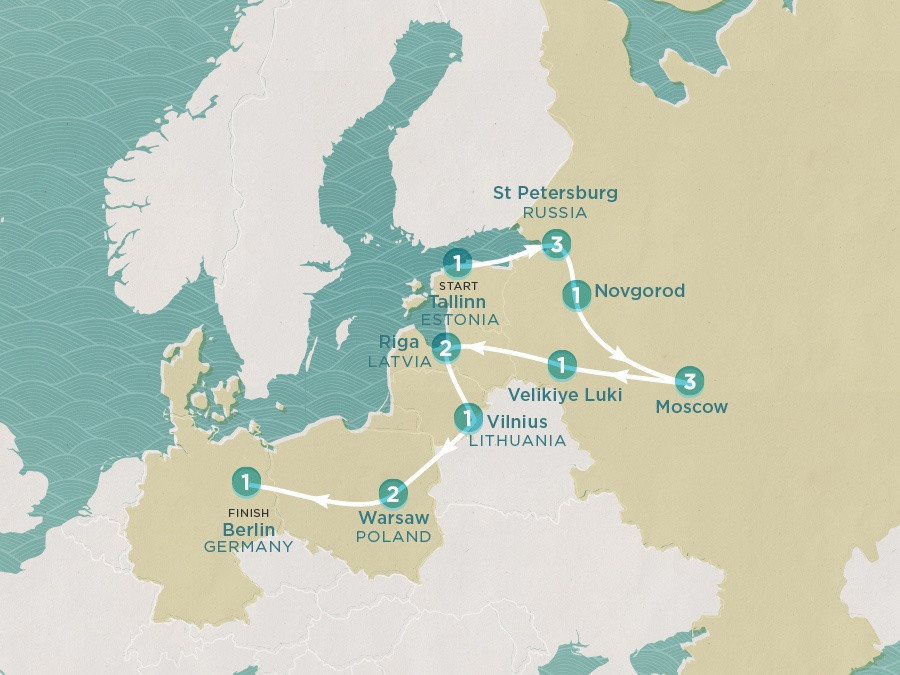 Map of Russian Revelations | Topdeck Travel