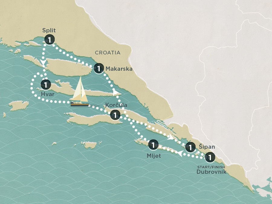 Map of Dubrovnik Dreams | Topdeck Travel