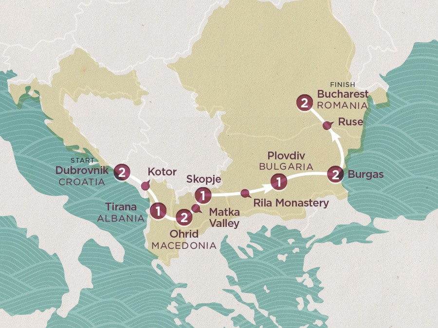 Map of Balkan Coasts | Topdeck Travel