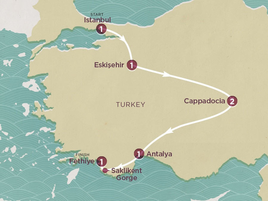 Map of Sultan's Trail | Topdeck Travel