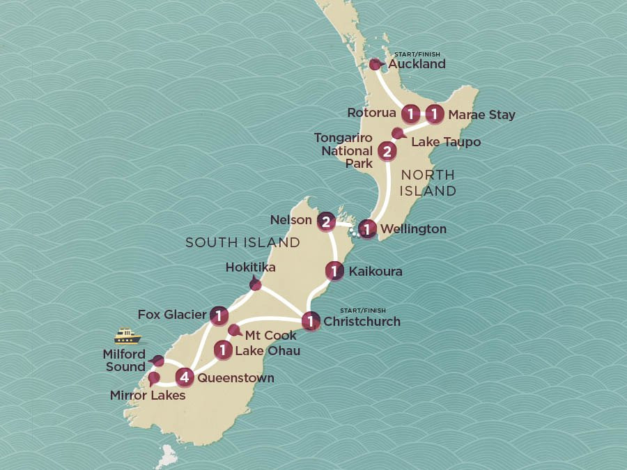 Map of Kiwi Encounter