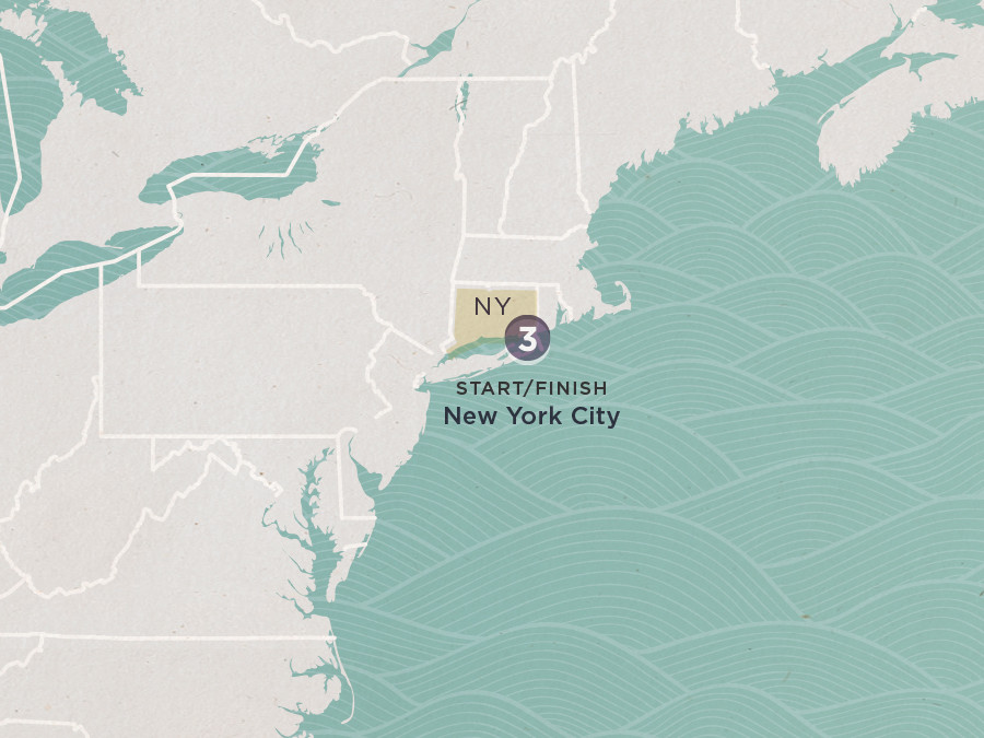 Map of I Love NYC | Topdeck Travel